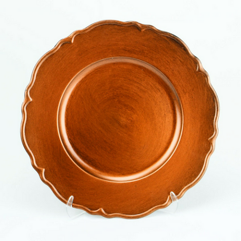 Charger Plate Metallic Antique BRUSHED COPPER