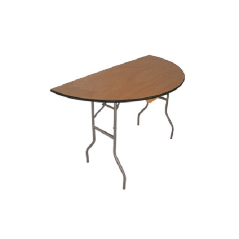 "PLYWOOD 60"" HALFMOON PLYWOOD FOLDING TABLE"