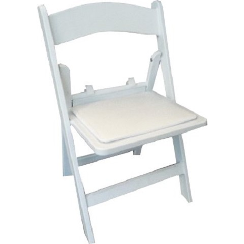 KIDS RESIN WHITE FOLDING CHAIR