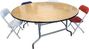 "PLYWOOD 36"" KIDS ROUND FOLDING TABLE 21"" HIGH"