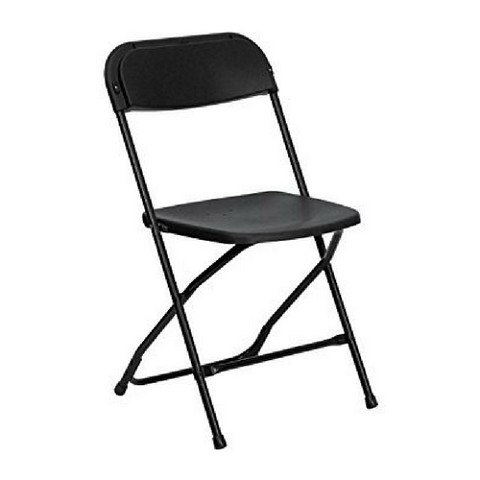 PLASTIC FOLDING CHAIR BLACK