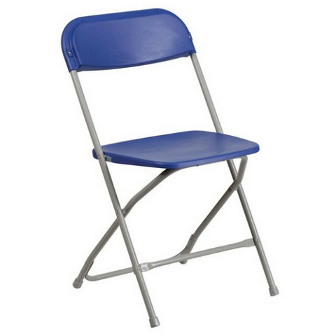 PLASTIC FOLDING CHAIR BLUE