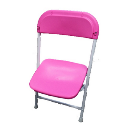 PINK PLASTIC FOLDING CHAIR