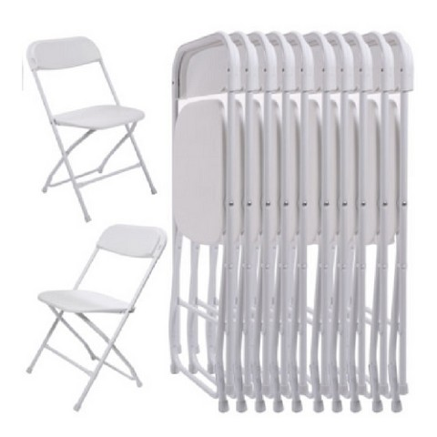 Plastic Folding Chairs white