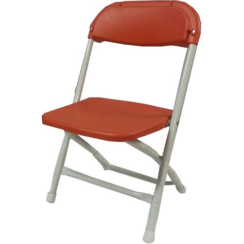 KIDS PLASTIC FOLDING CHAIR RED