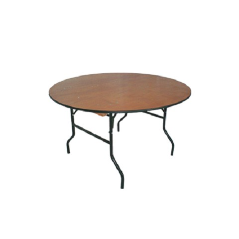 "PLYWOOD 60"" ROUND FOLDING TABLE"
