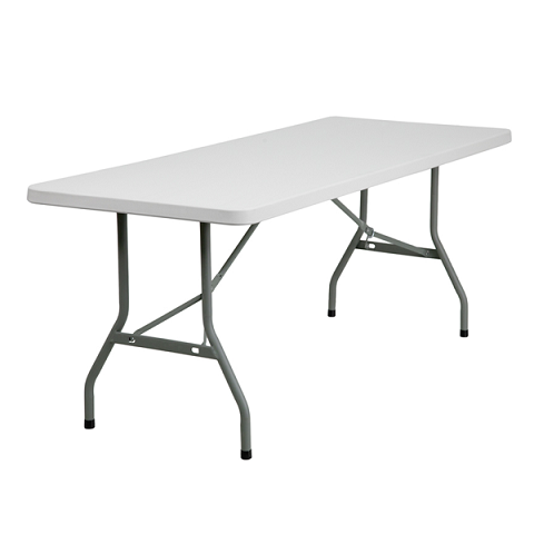 RESIN 6' RECTANGULAR FOLDING TABLE