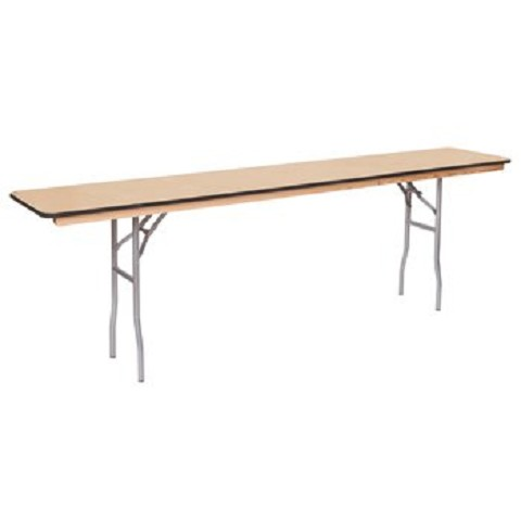 "PLYWOOD 8' RECTANGULAR SEMINAR FOLDING TABLE 96""X18"""
