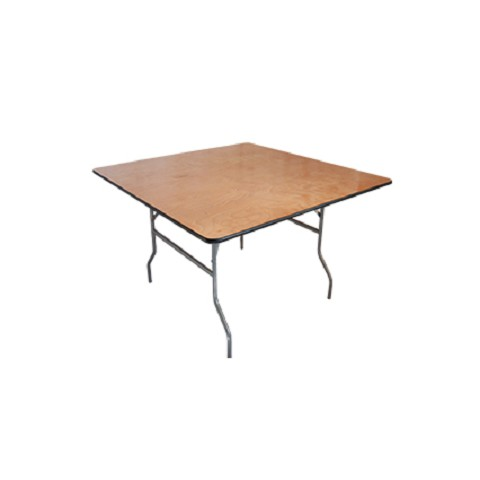 PLYWOOD 5'X5' SQUARE PLYWOOD FOLDING TABLE