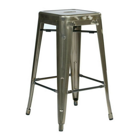 Metal Stacking Barstools Gun Metal Color