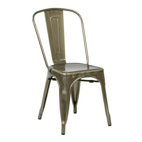 Metal Stacking Chair Gun Metal Color