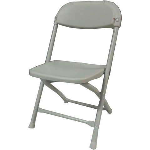 KIDS PLASTIC FOLDING CHAIR WHITE
